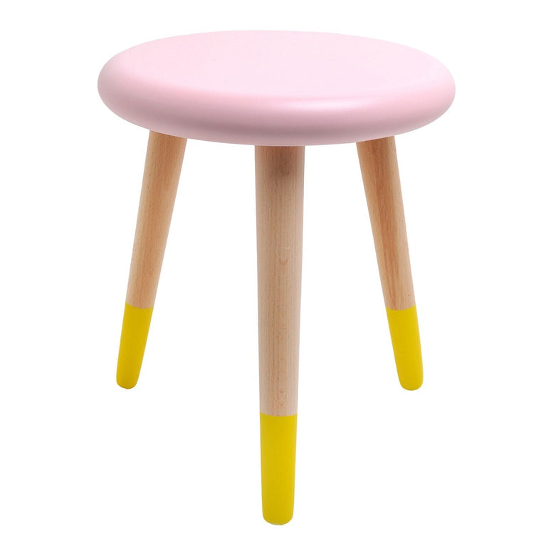 Alice Stool Light Pink Lemon Yellow