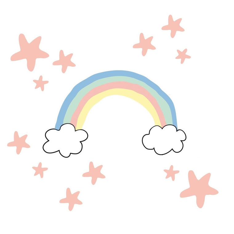 Just a Touch - Rainbow Wall Sticker