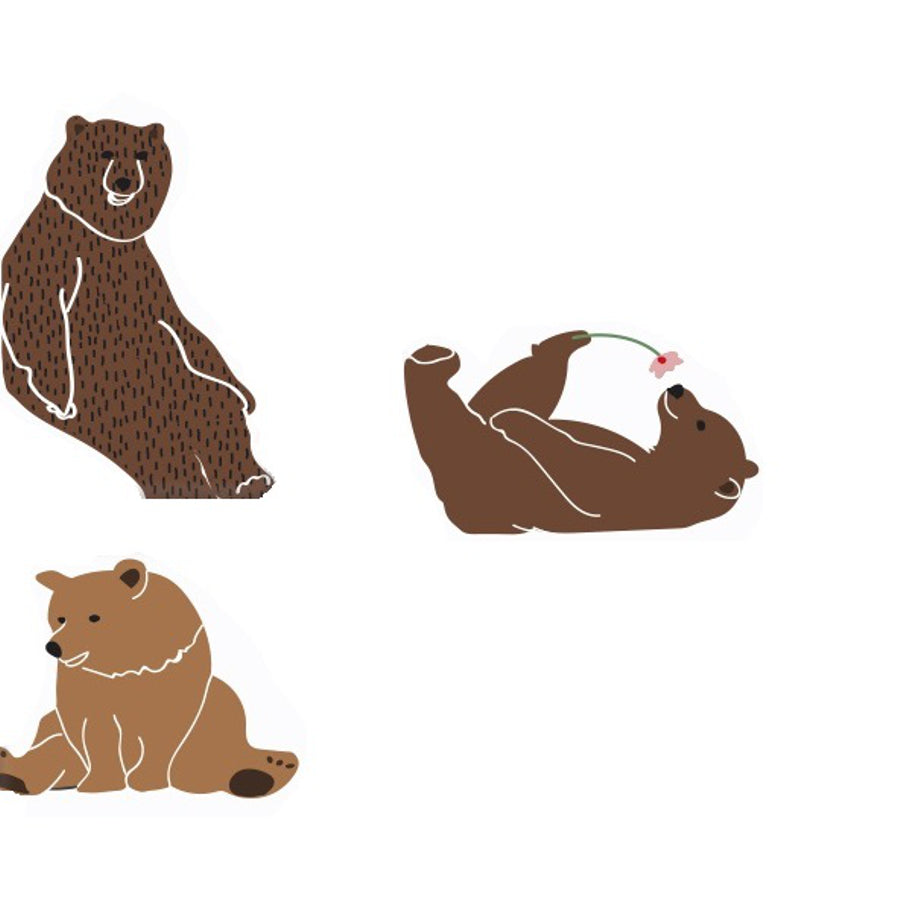 Just A Touch Bears Wall Sticker By Mimi Lou Minifili