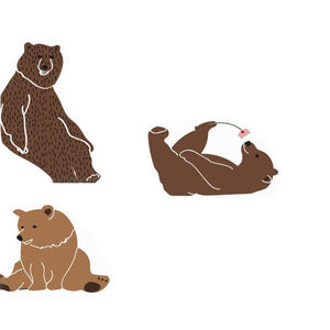 Just a Touch - Bears Wall Sticker by MIMI'lou - minifili