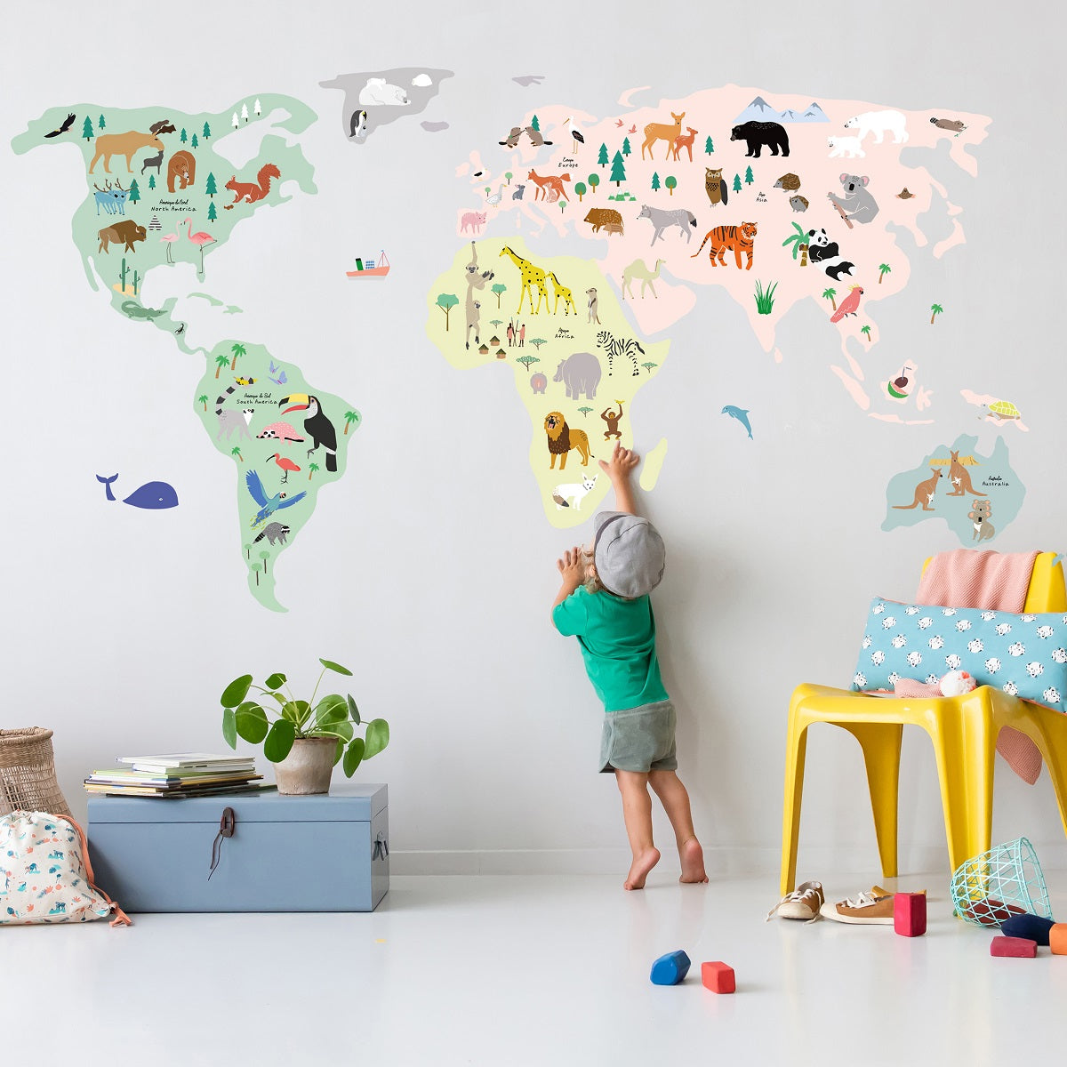 World Map Wall Decal By Mimi Lou Minifili