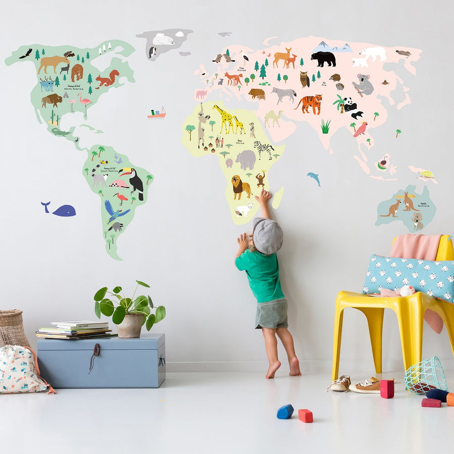 World Map Wall Decal by MIMI'lou - minifili