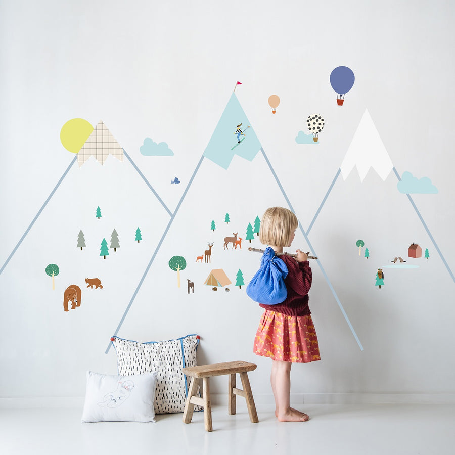 Big Mountains Wall Decal by MIMI'lou - minifili
