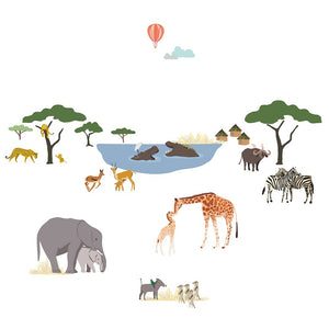 Safari Scene Wall Decal by MIMI'lou - minifili