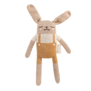 Bunny Ochre Overall Soft Toy by Main Sauvage - minifili