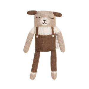 Puppy Brown Overall Soft Toy by Main Sauvage - minifili