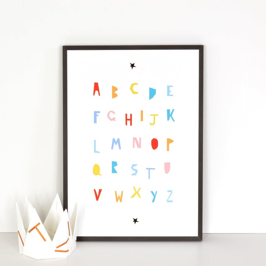 Alphabet Colour Print by Ingrid Petrie Design - minifili