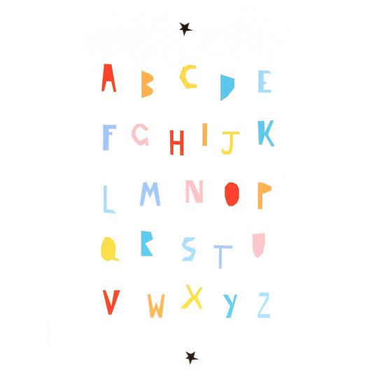 Alphabet Colour Print