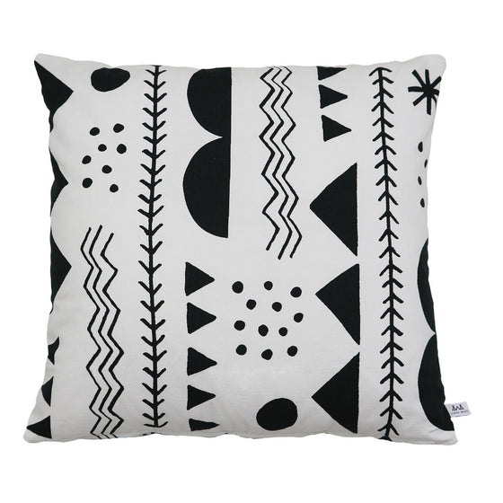Black Shapes Cushion