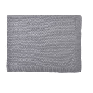 Bou Knitted Blanket Grey by Rose in April - minifili