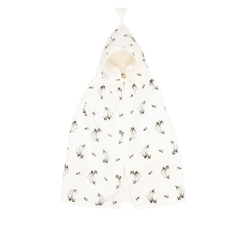 Fawn Bath Cape White