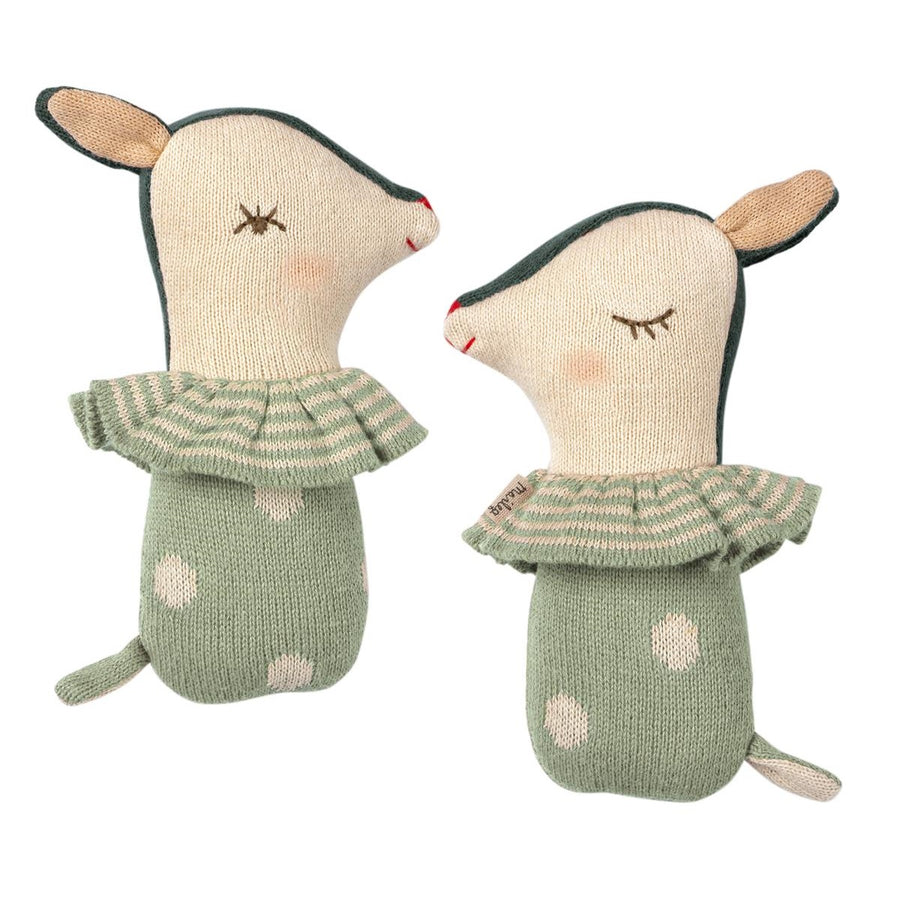 Bambi Rattle Dusty Mint by Maileg - minifili