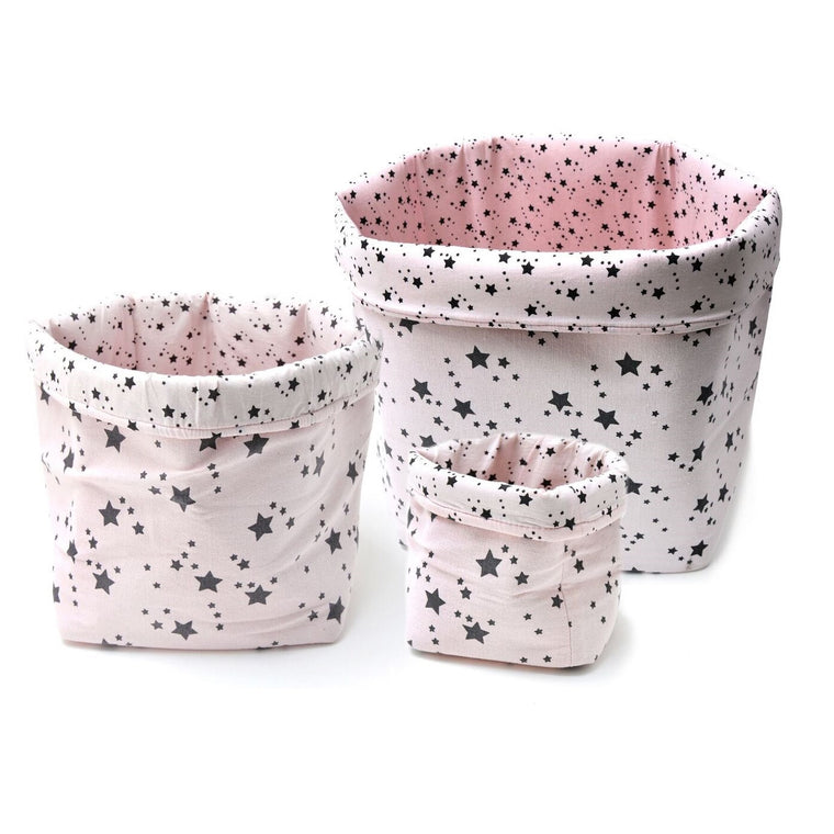 Star Baskets Light Pink/Dark Blue