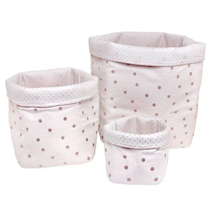 Confetti Baskets Light Pink/Copper