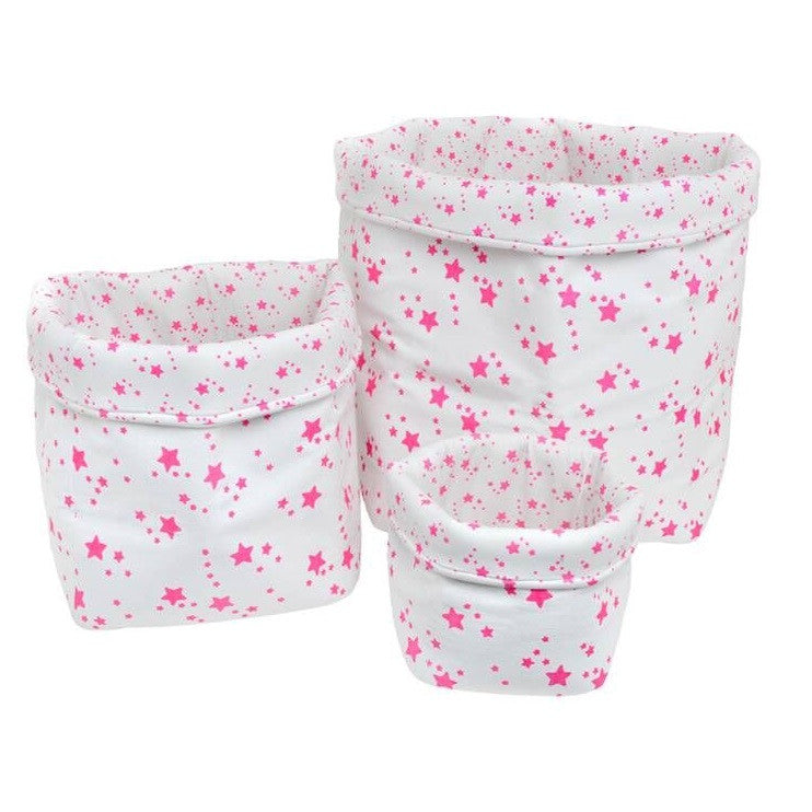 Star Baskets White/Neon Pink