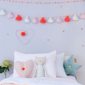 Coral Dots Twin Sheet Set by Meri Meri - minifili