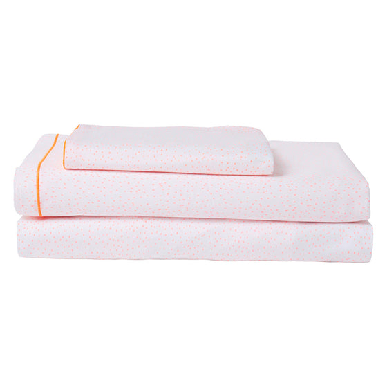 Coral Dots Twin Sheet Set