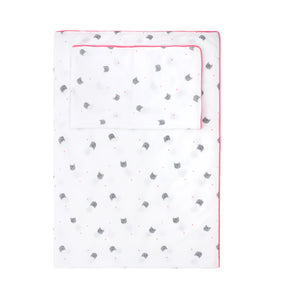 Cats Bedding Set Pink Piping by Rose in April - minifili