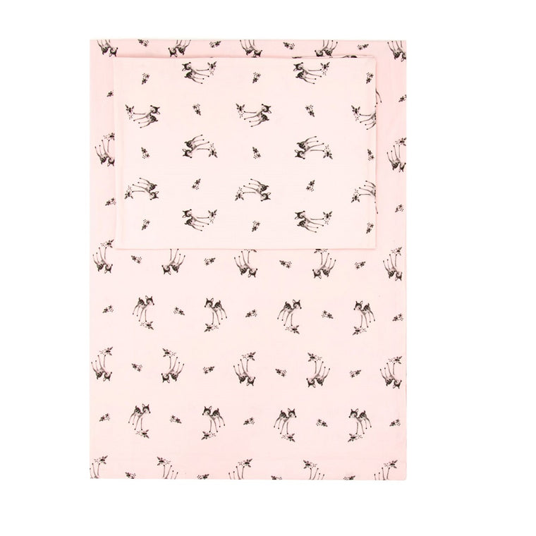 Fawn Bedding Set Pink