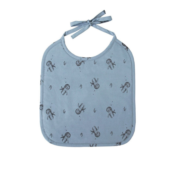 Octopus Bib Blue Grey