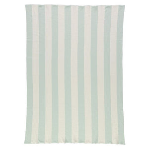 Mint and Ivory Stripe Knitted Blanket by Meri Meri - minifili