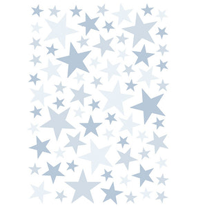 Blue Stars Wall Decal by Lilipinso - minifili
