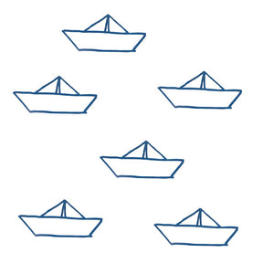 Paper Boats Wall Decal