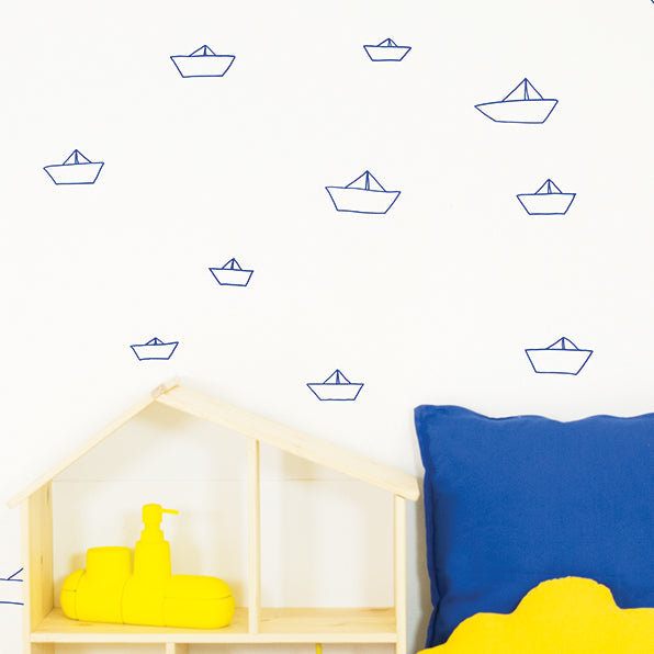 Paper Boats Wall Decal by Chispum - minifili