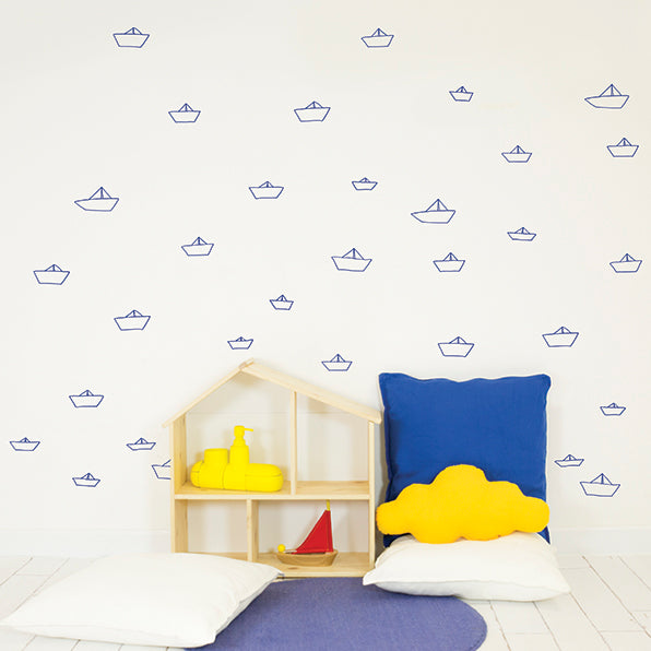 Chispum - Paper Boats Wall Decal