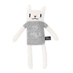 Cat Soft Toy Light Grey by Main Sauvage - minifili