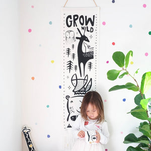 Woodland Canvas Height Chart by Wee Gallery - minifili