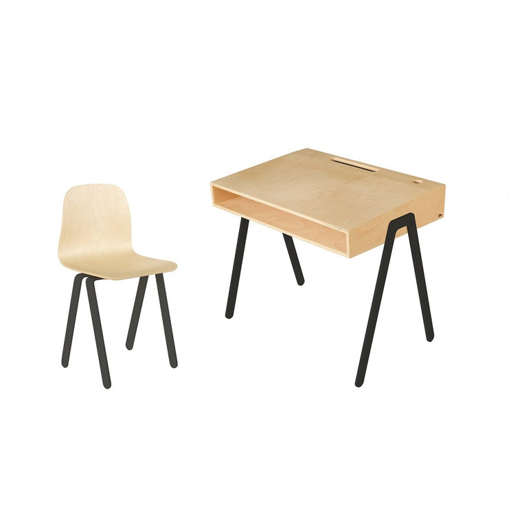 Kids Desk & Chair Large Black