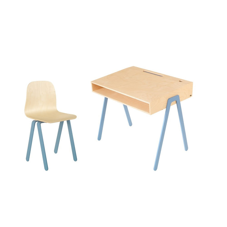Kids Desk & Chair Large Blue