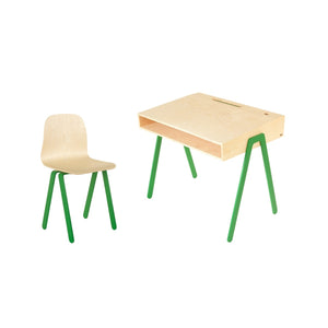 Kids Desk & Chair Large Green by In2Wood - minifili