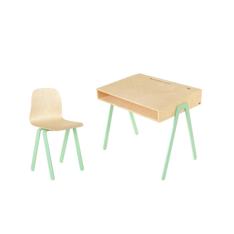 Kids Desk & Chair Large Mint