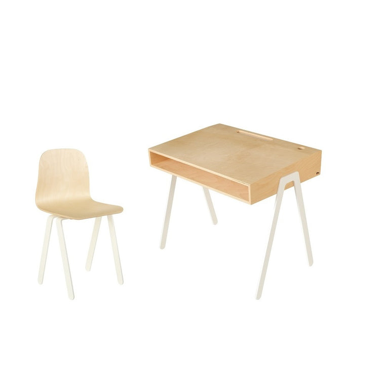 Kids Desk & Chair Large White