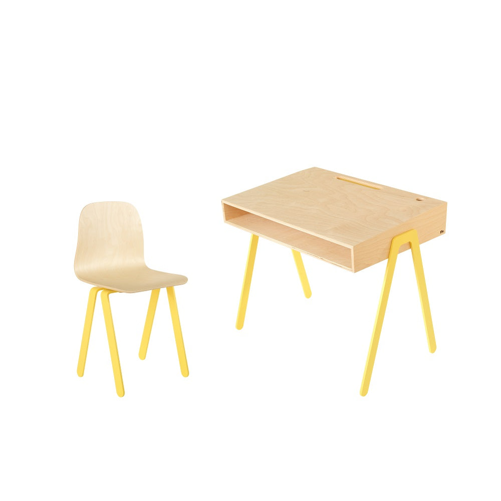 In2Wood - Kids Desk & Chair Large Yellow