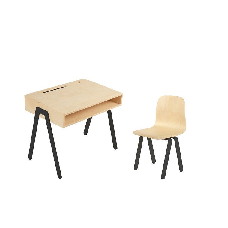 Kids Desk & Chair Small Black