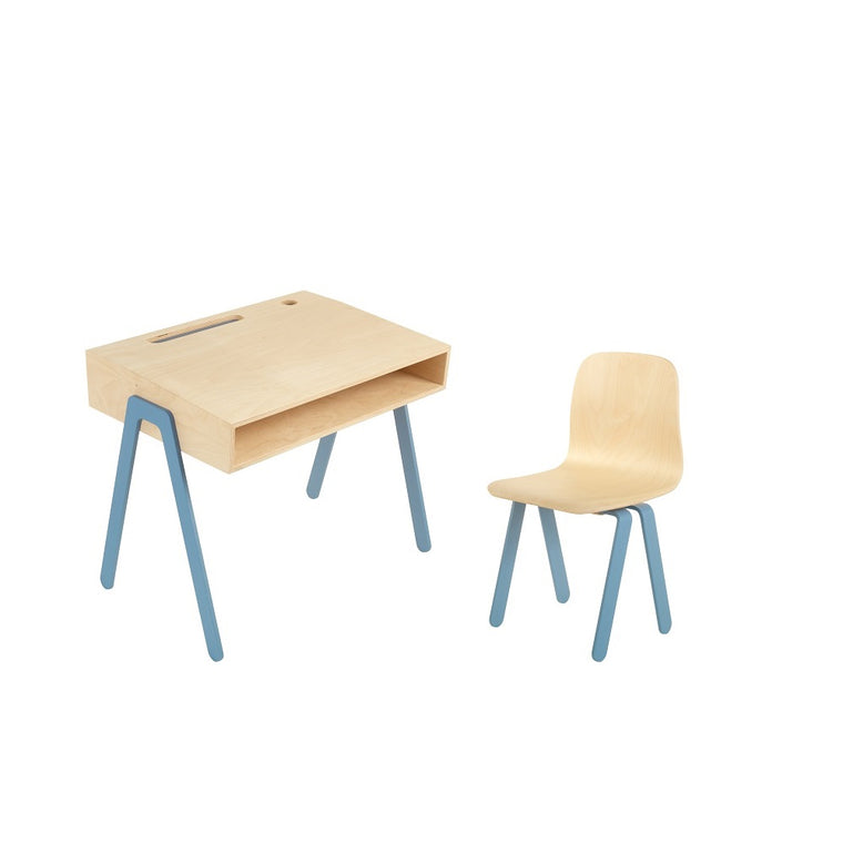 Kids Desk & Chair Small Blue