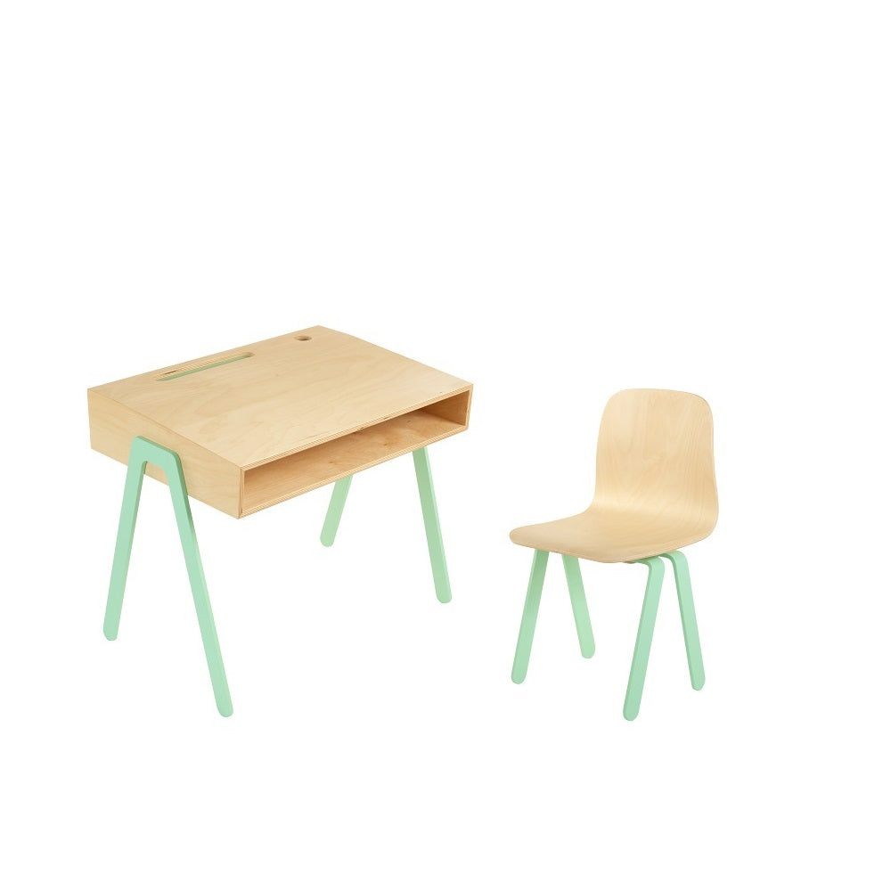 In2Wood - Kids Desk & Chair Small Mint