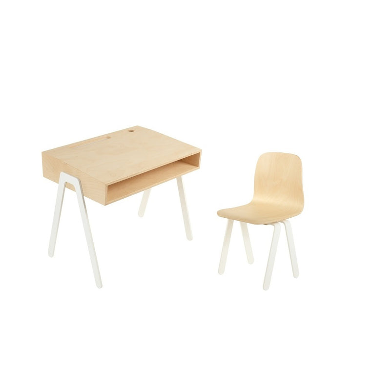Kids Desk & Chair Small White