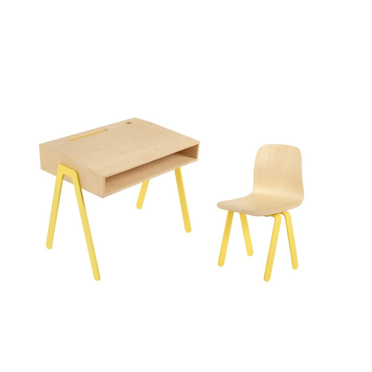 Kids Desk & Chair Small Yellow