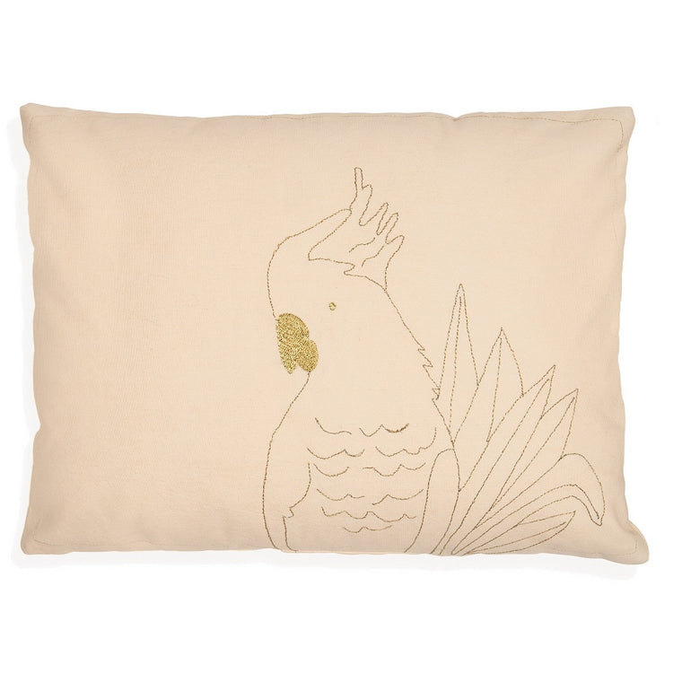 Golden Parrot Cushion