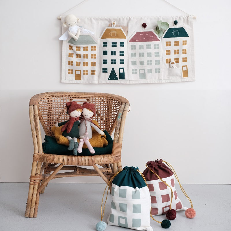 Townhouses Christmas Wall Decoration by Fabelab - minifili