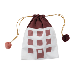 Cotton Gift Bag House Clay by Fabelab - minifili