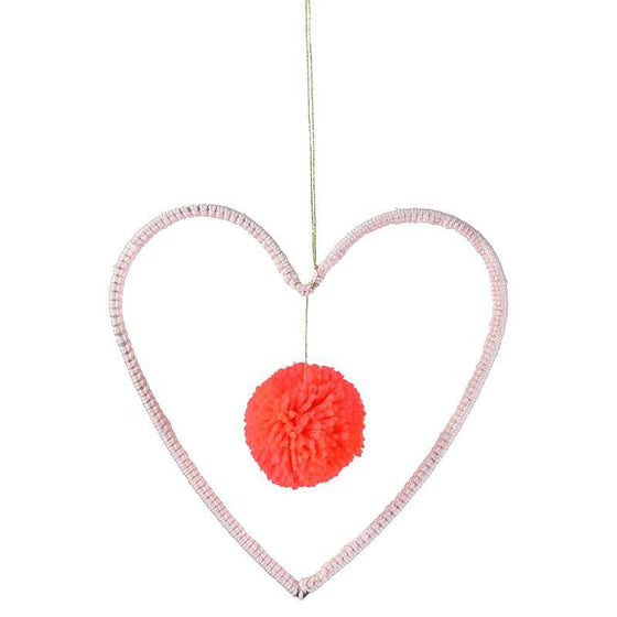 Wire and Wool Heart Mobile