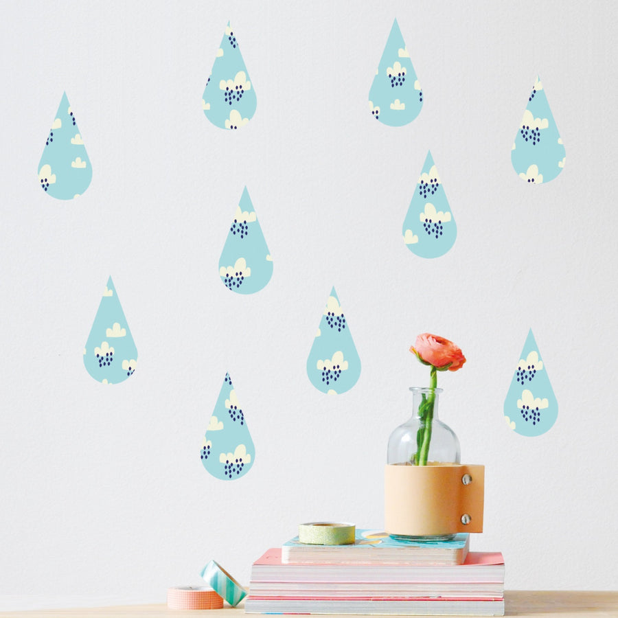 Just a Touch - Raindrops Wall Sticker by MIMI'lou - minifili