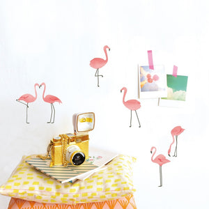 Just a Touch - Flamingos Wall Sticker by MIMI'lou - minifili