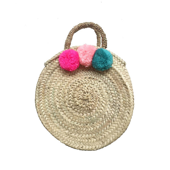 Gaby Seagrass Bag Pink Blue