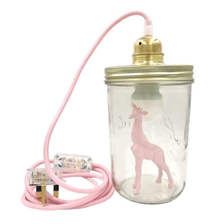 Giraffe Table Lamp Light Pink